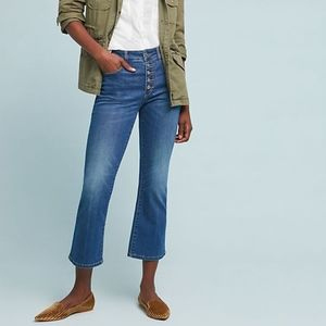 Anthropologie Pilcro High Rise Cropped Flare Jeans